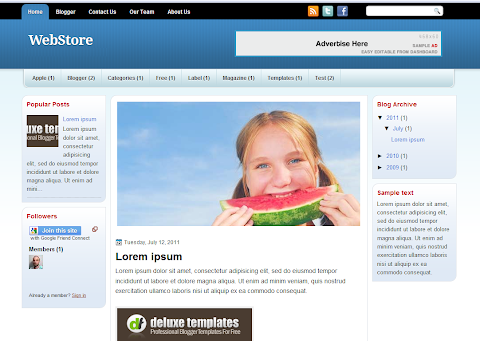 WebStore Blogger Theme