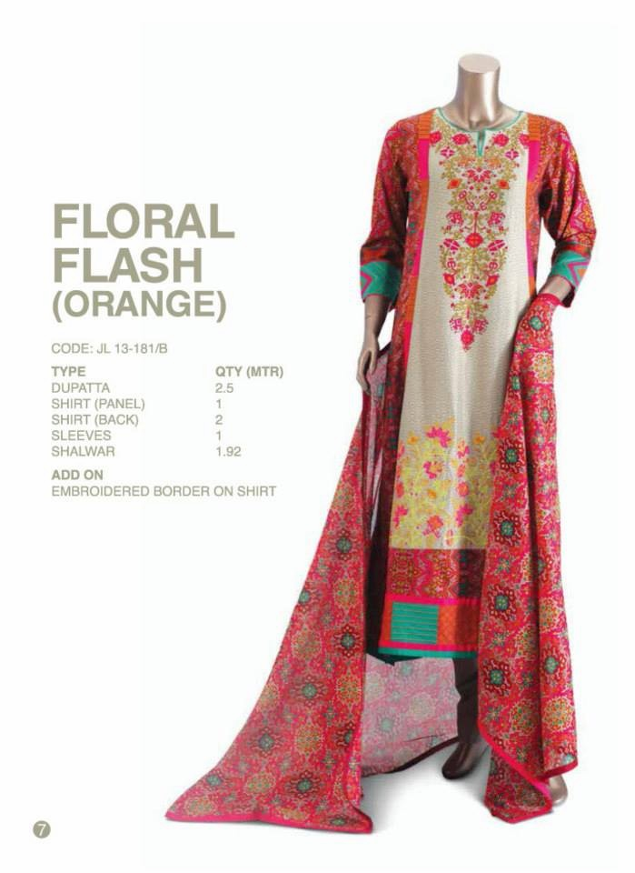 Junaid jamshed eid collection 2013 for women embroidered cotton and