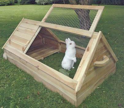 Как сделать пол у кроликов в клетке