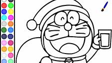 Doraemon Coloring Papa Noel Game Play Online
