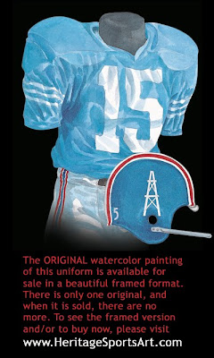 Houston Oilers 1965 uniform - Tennessee Titans 1965 uniform