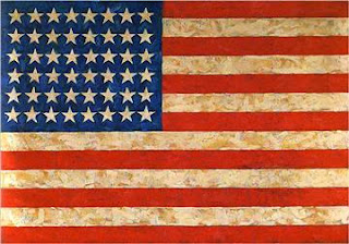 "Famous Painting ""Flag"" by Jasper Johns, 1954"