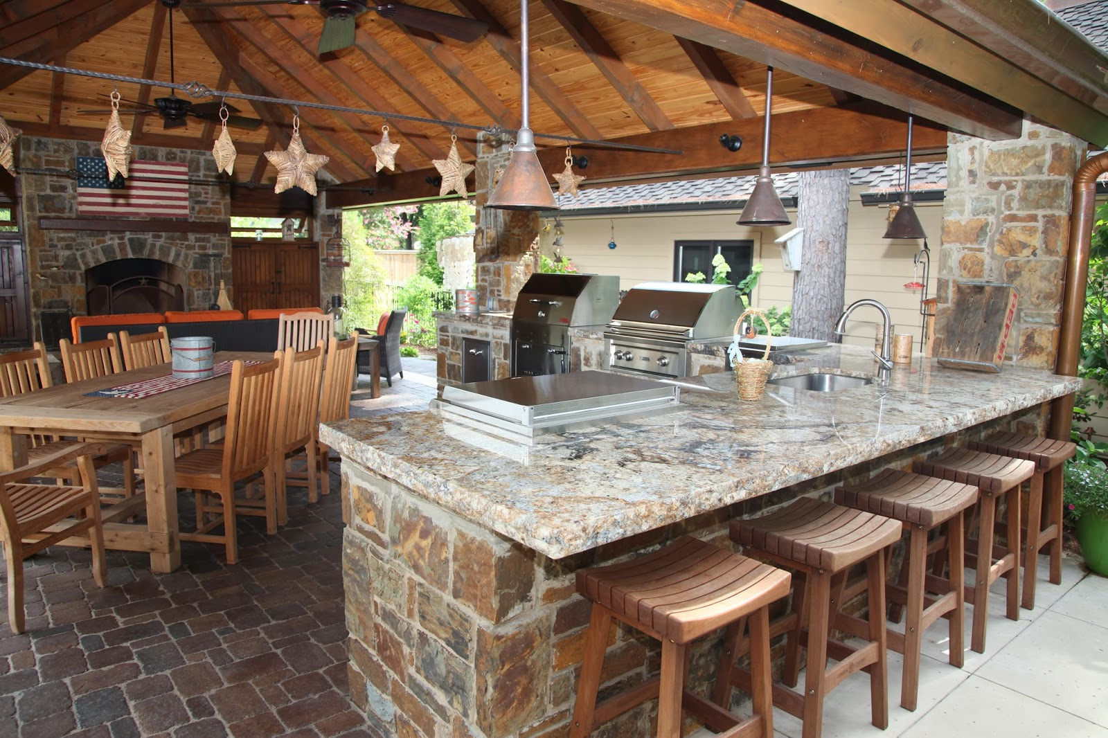 Outdoor Kitchen Countertop Outside Kitchen Outdoor Kitchen Granite How To Anchor An Outdoor