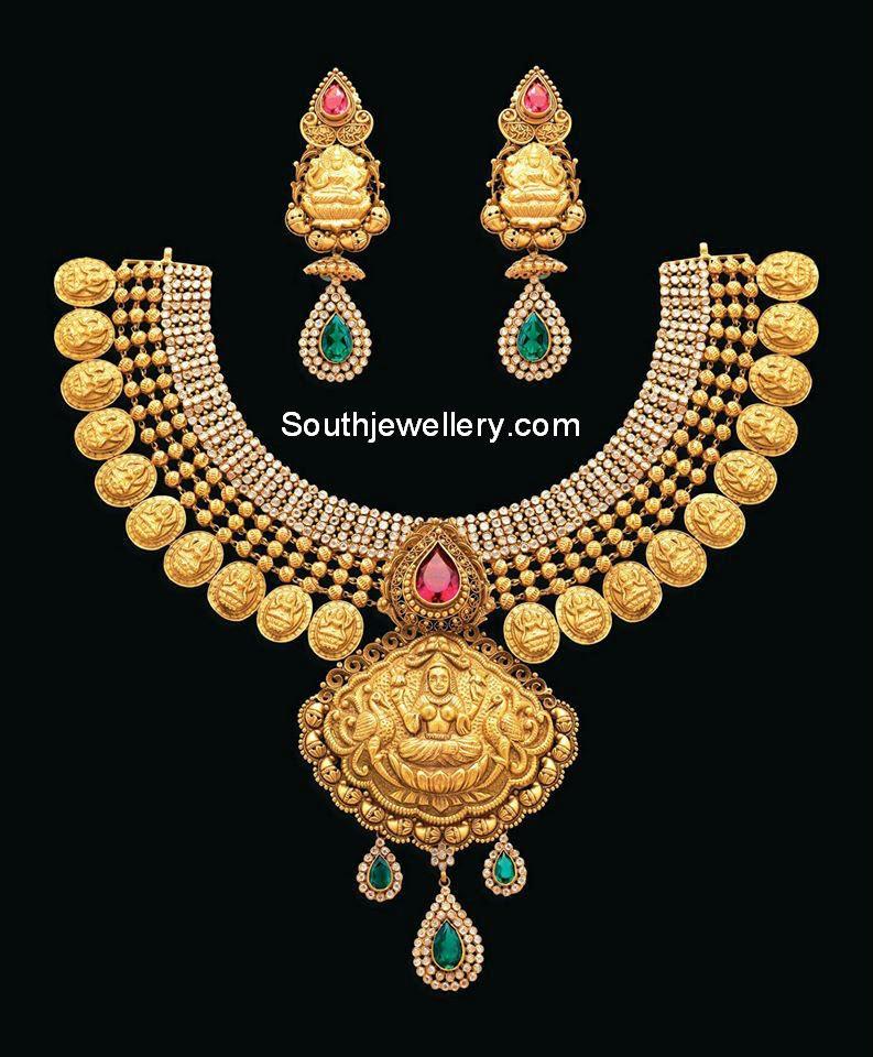 antique lakshmi kasulaperu necklace