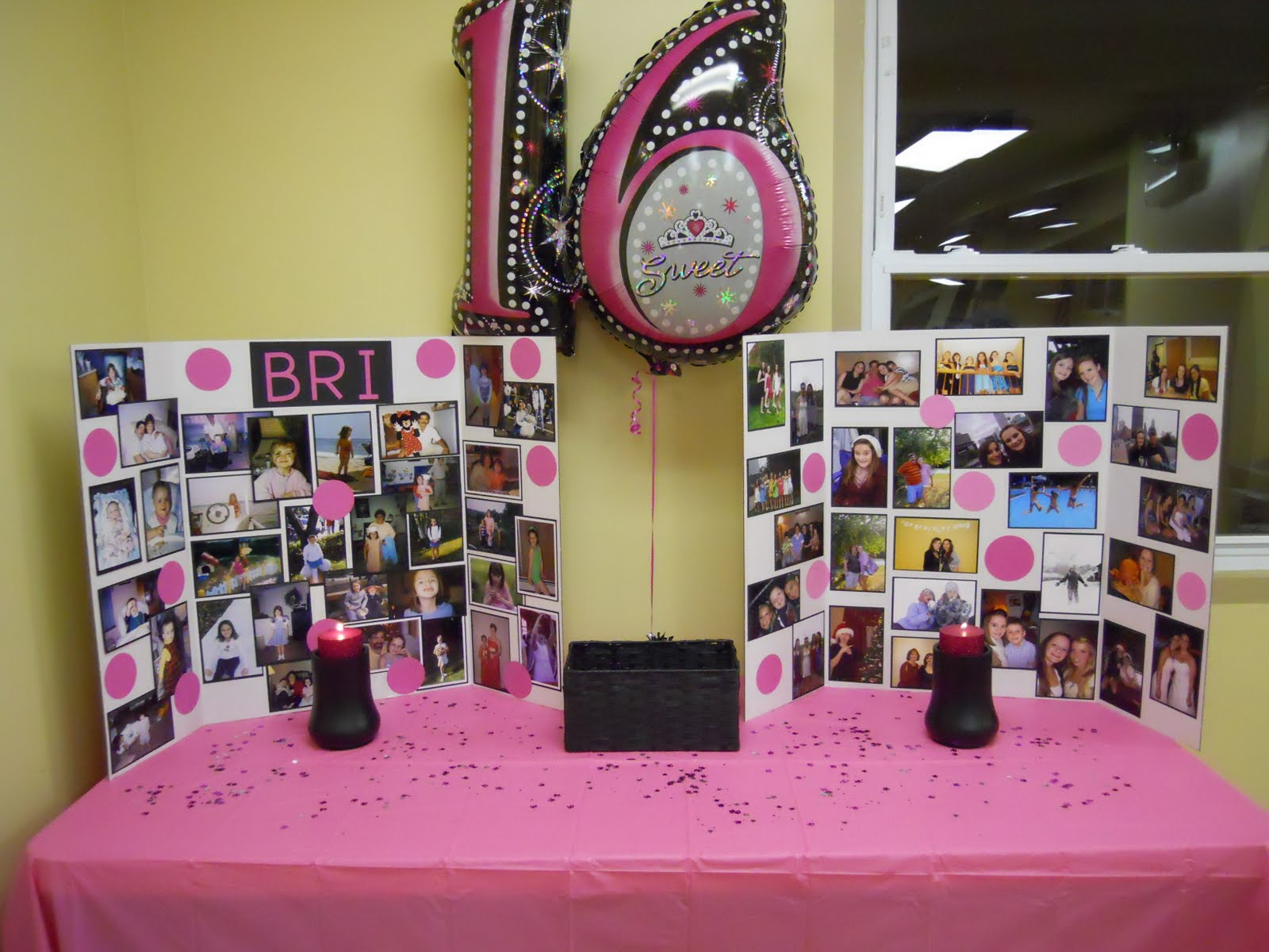 Our newbie life sweet 16 for 16th birthday party decoration ideas
