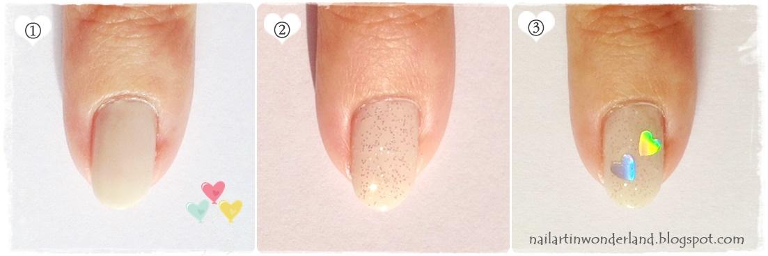 Glitter cupcake nail art tutorial