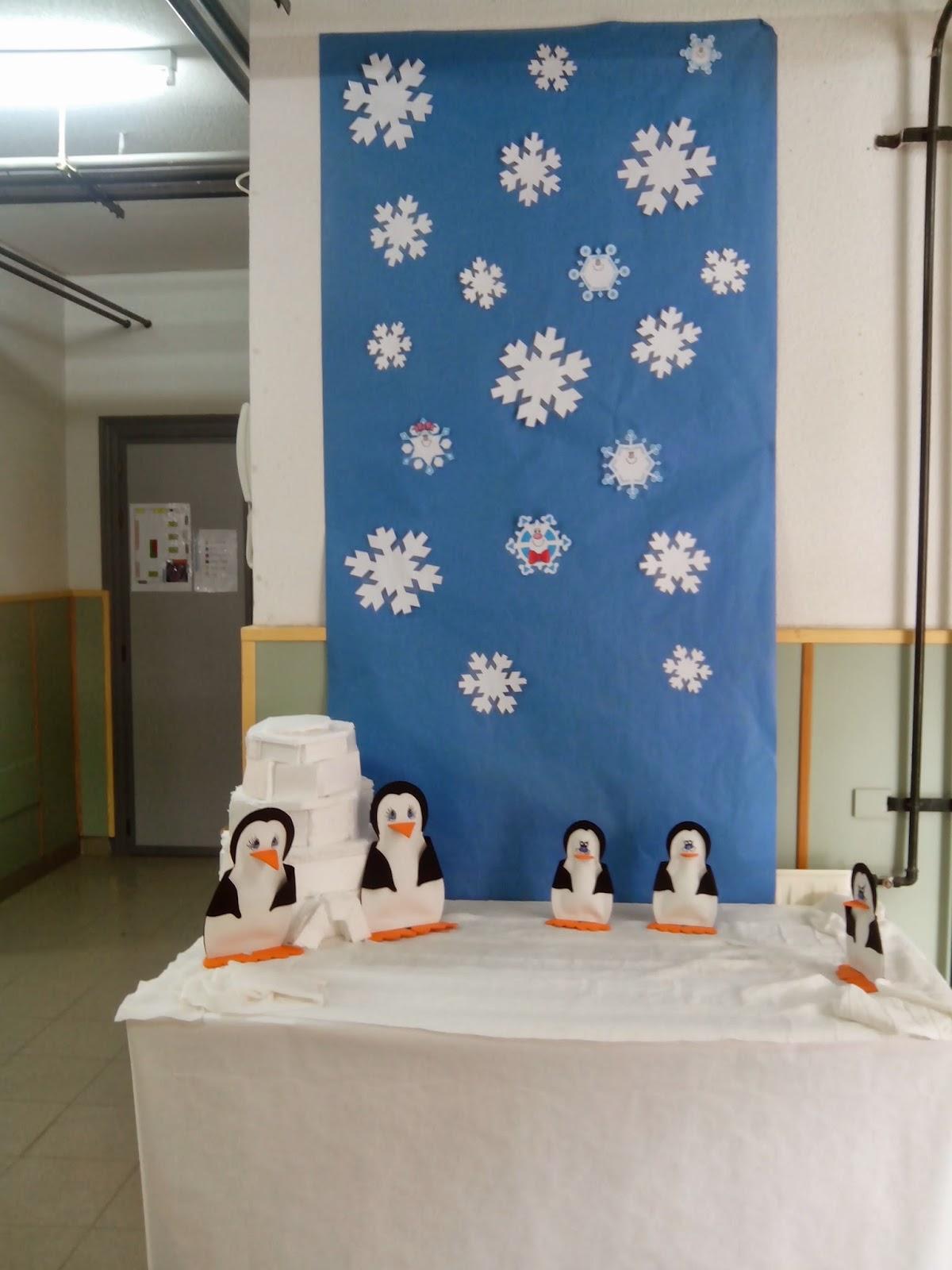 decoracion invierno escuela infantil