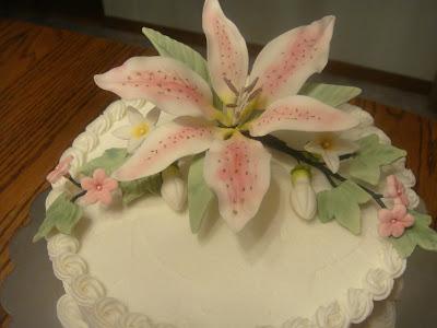 Cake Decorating Gum Paste Recipe : Cakes By LAM Designs: Birthday Cake with Edible Gumpaste ...