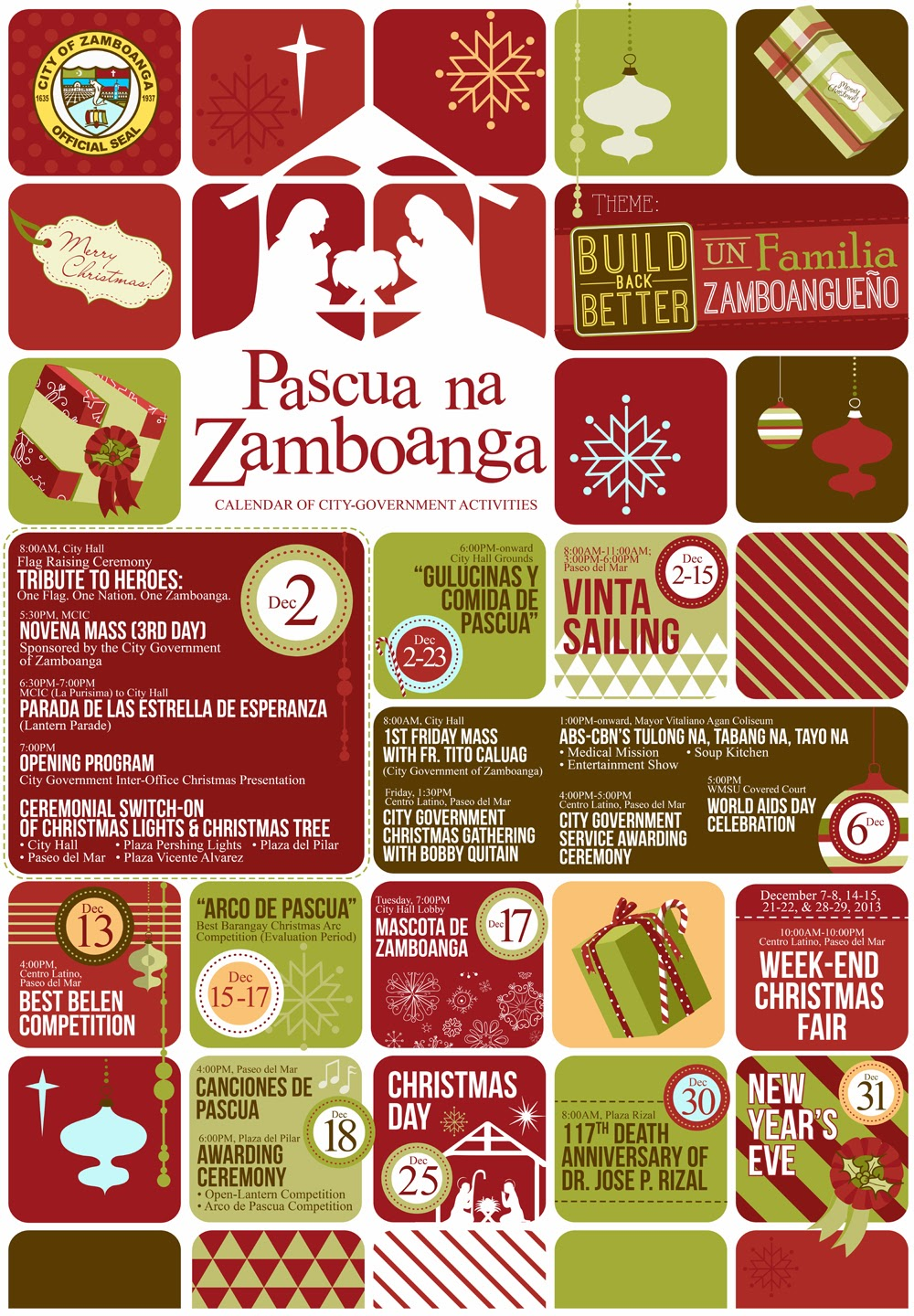 pascua na zamboanga calendar of activities poster christmas celebration city hall