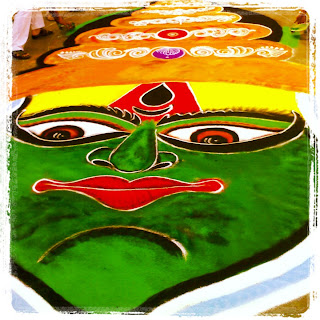 Rangoli on the Street in Pune, India for Ganesh Chaturthi