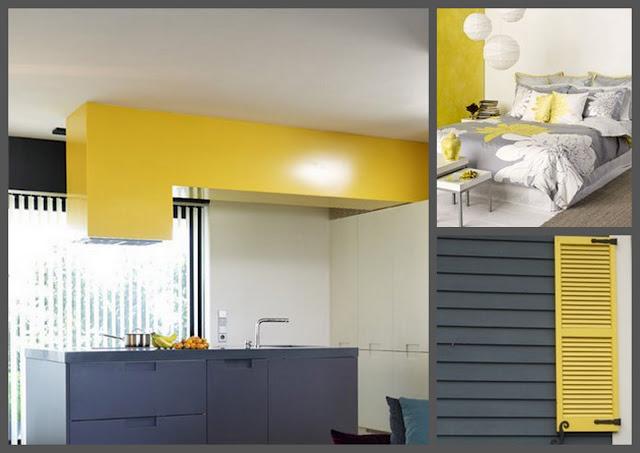 Ideas para decorar dise ar y mejorar tu casa colores for Decoracion de salas en gris y amarillo