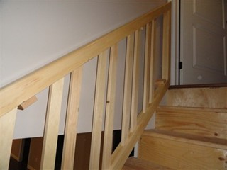 This Basement Stair Situation Required A Stair Rail That Can Be Removed, So  Big Items Can Be Carried Downstairs. The Top And Bottom Rails With Spindles  Are ...