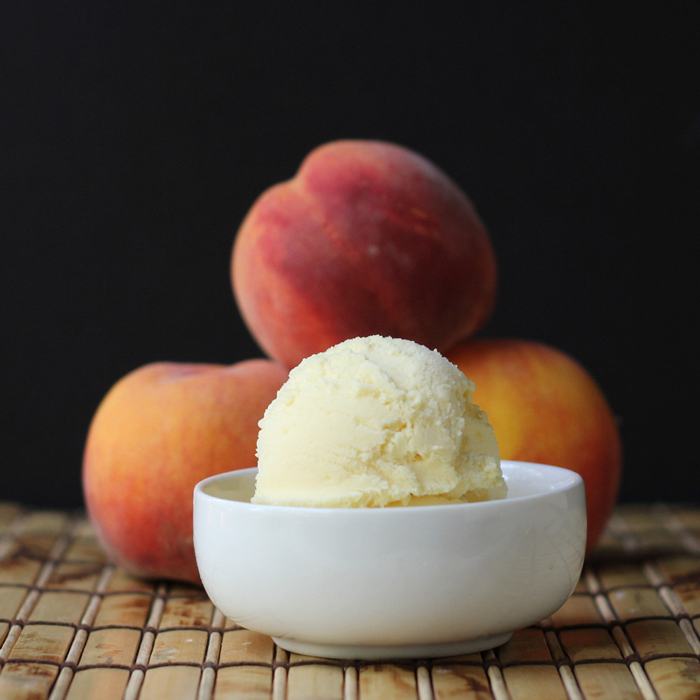 Cookistry: Triple Peach Ice Cream #IceCreamWeek