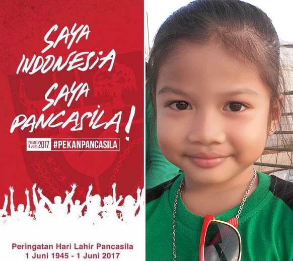 Anak Kakanda Redi: SAYA INDONESIA SAYA PANCASILA