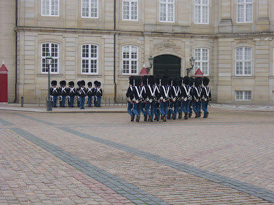 CHANGING OF THE GUARDS, AMALIENBORG PALACE, COPENHAGEN
