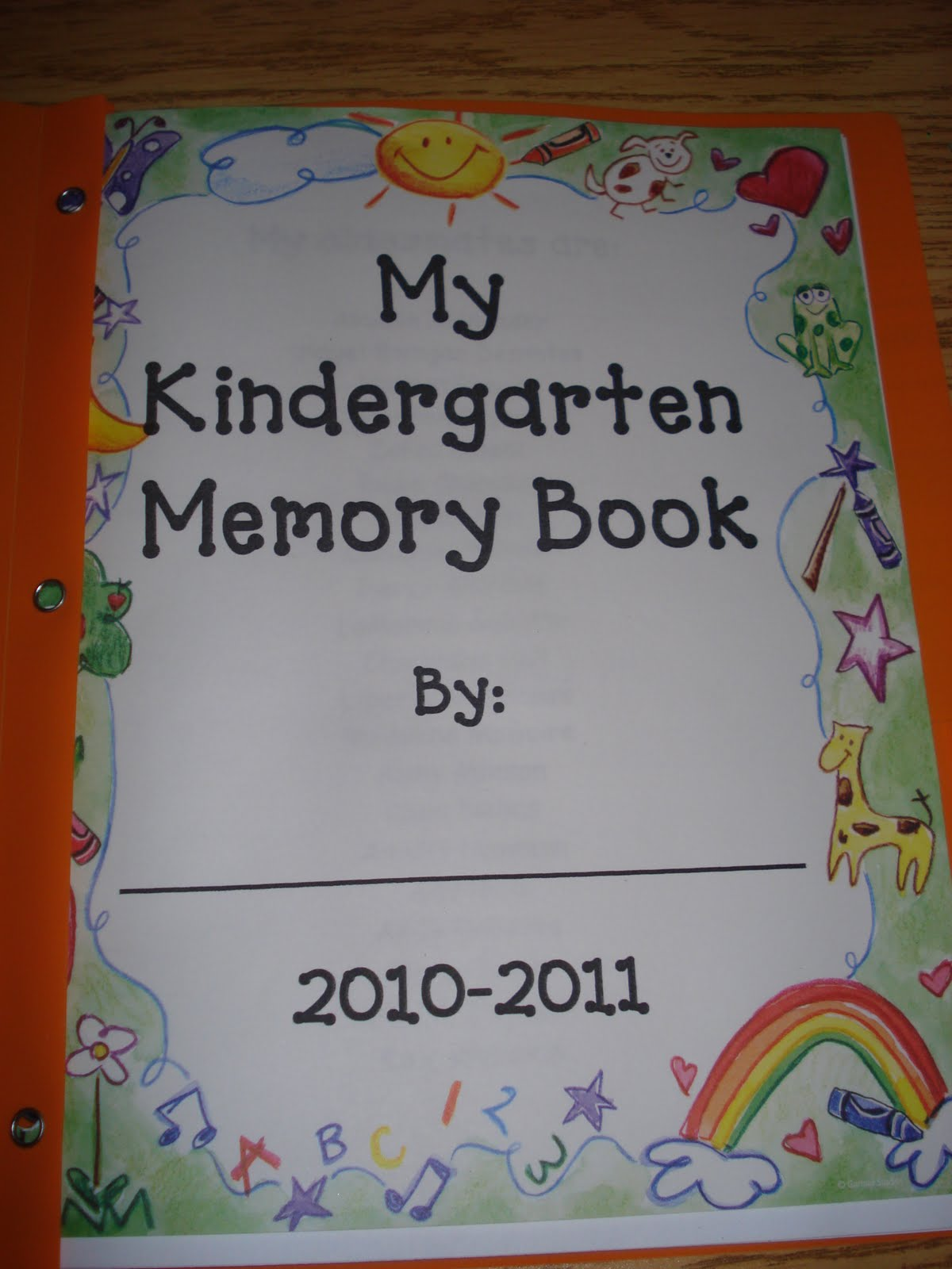 Kindergarten Memory Book Cover Ideas : Mrs kimbrell s kindergarten abc days m p and our