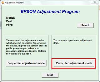click particular adjustment mode
