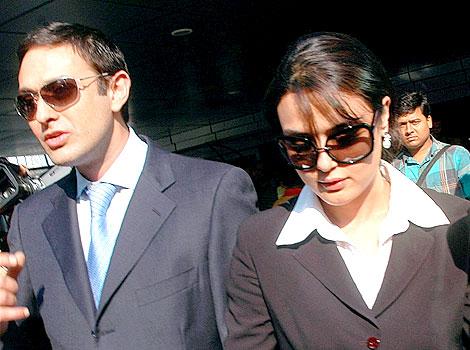 Preity Zinta with Her Husband