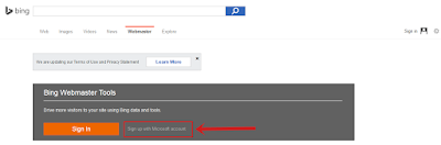 Daftar Blog ke Bing Webmaster Tools