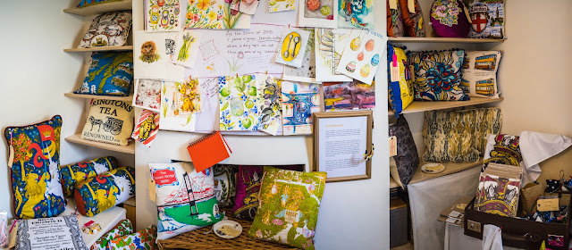 Textiles, Cushions, Studio, Vintage finds, Hand printed textiles, Bristol