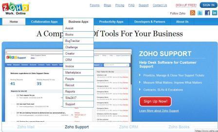 zoho business application