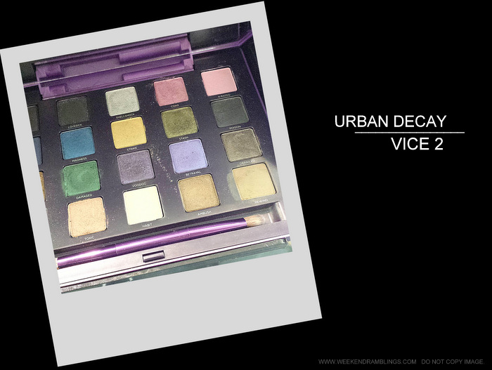 Urban Decay Vice 2 Eyeshadow Palette - Swatches