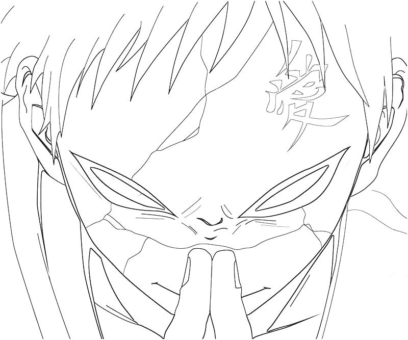gaara coloring pages - photo#5