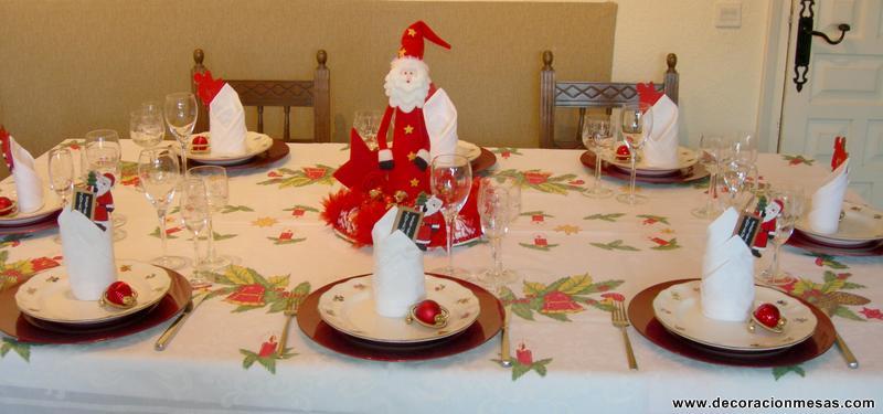 Decoracion de mesas mesa navidad de papa noel - Adornar mesa de navidad ...
