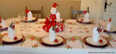 Decoracion de mesas mesa navidad de papa noel - Mesas para navidad decoracion ...