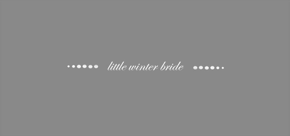 little winter bride