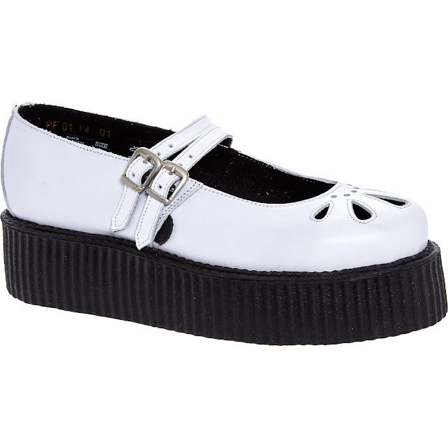 underground white leather creepers