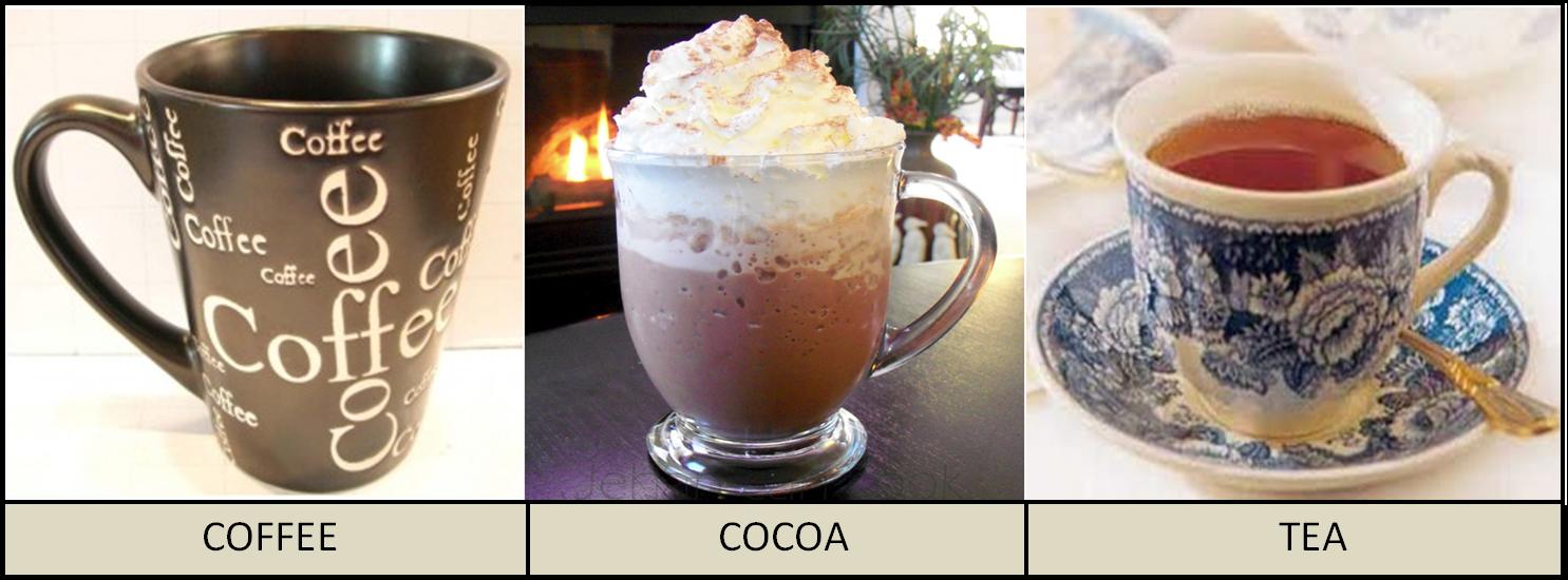 Coffee, Cocoa & Tea