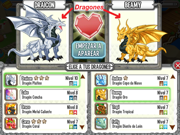La Guia de Dragon City: ¿Como combinó dragones?