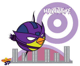 Hawk Eye Superheroes estilo Angry Birds