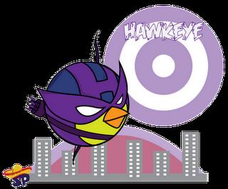 Hawk Eye Superheroes estilo Angry Birds