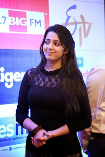 Actress Charmi Pictures in Black Dress at Margadarsi Big Telugu Entertainment Awards Launch 0019