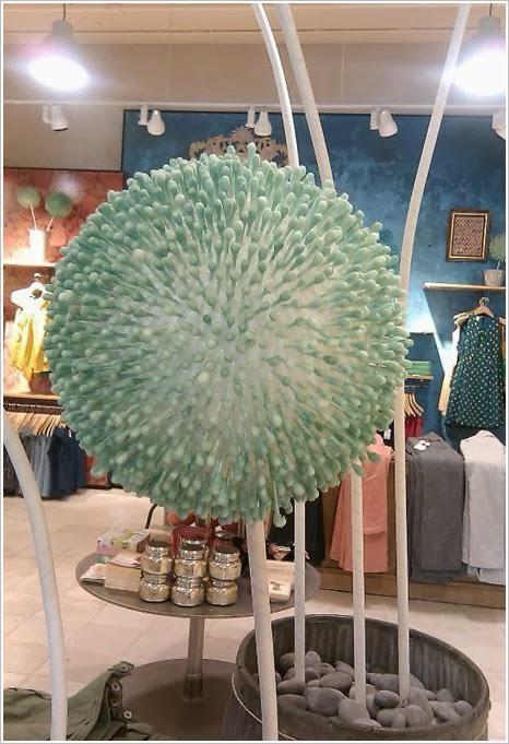 Декоративные шары из ватных палочек