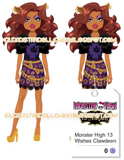 Ciudad stardoll doll monster high 13 souhaits clawdeen - 13 souhait monster high ...
