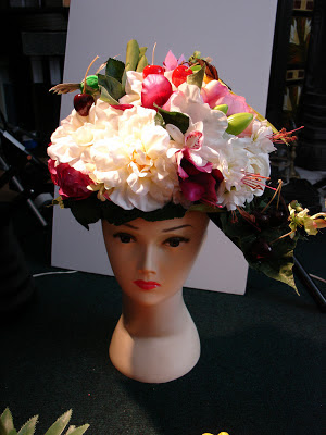cherry blossom head piece floral cherry avant garde ascot bridal