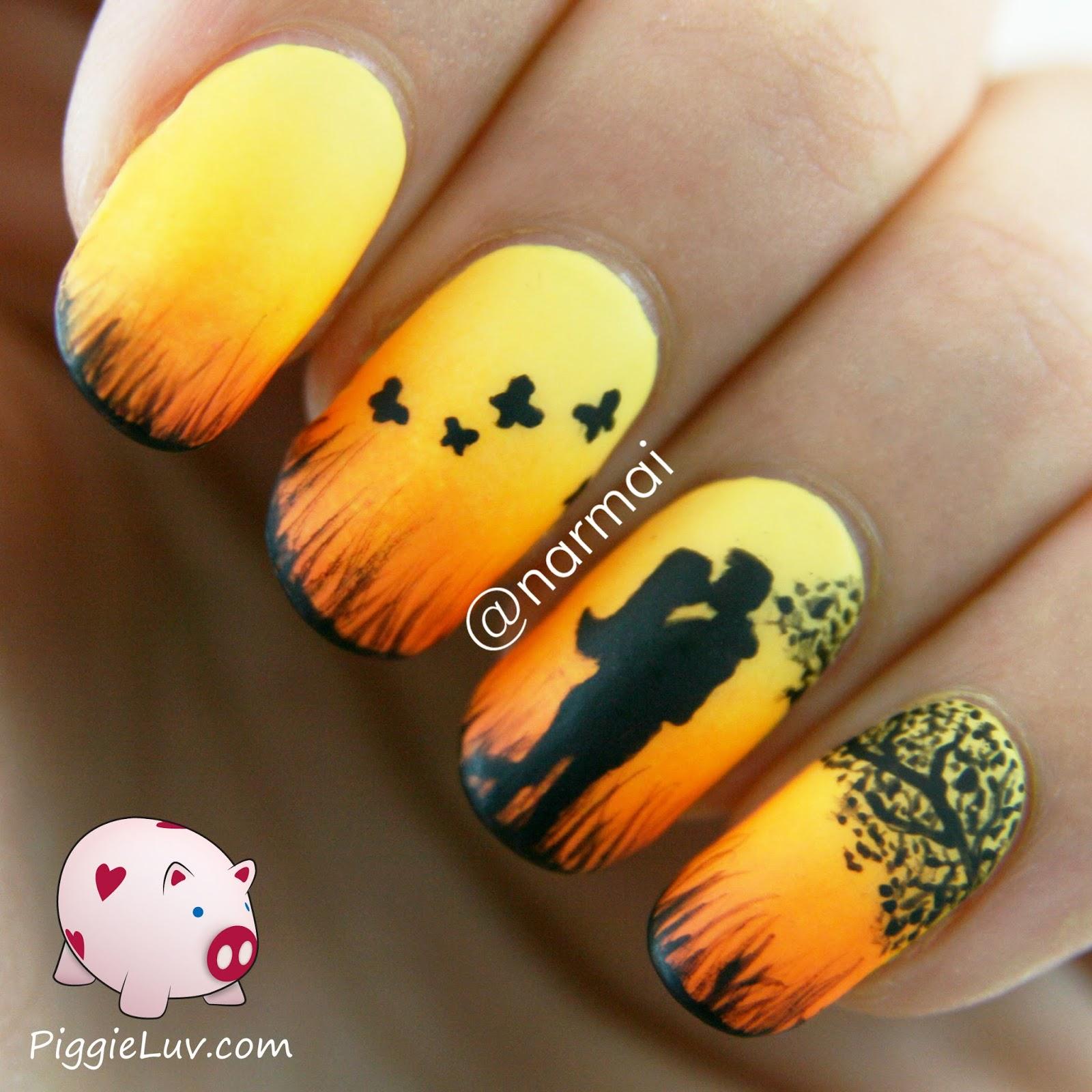PiggieLuv: Epic love story nails (five manis!)