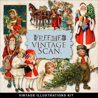Vintage Christmas Illustrations by farfarhill