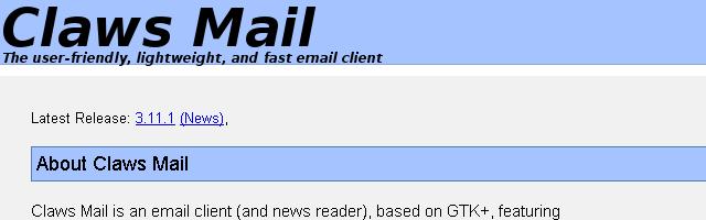Claws Mail - Solo Nuevas