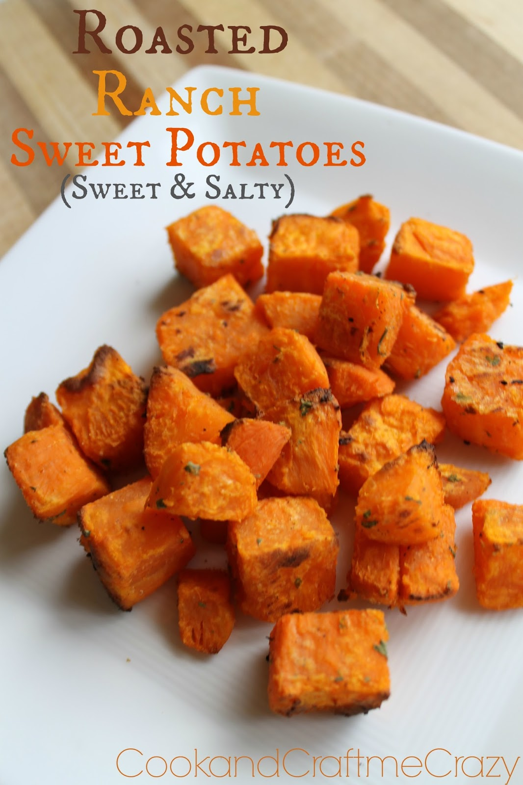 Roasted Ranch Sweet Potaotes