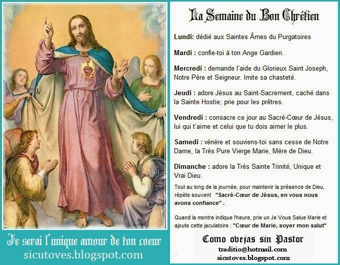 LA SEMAINE DU BON CHRÉTIEN