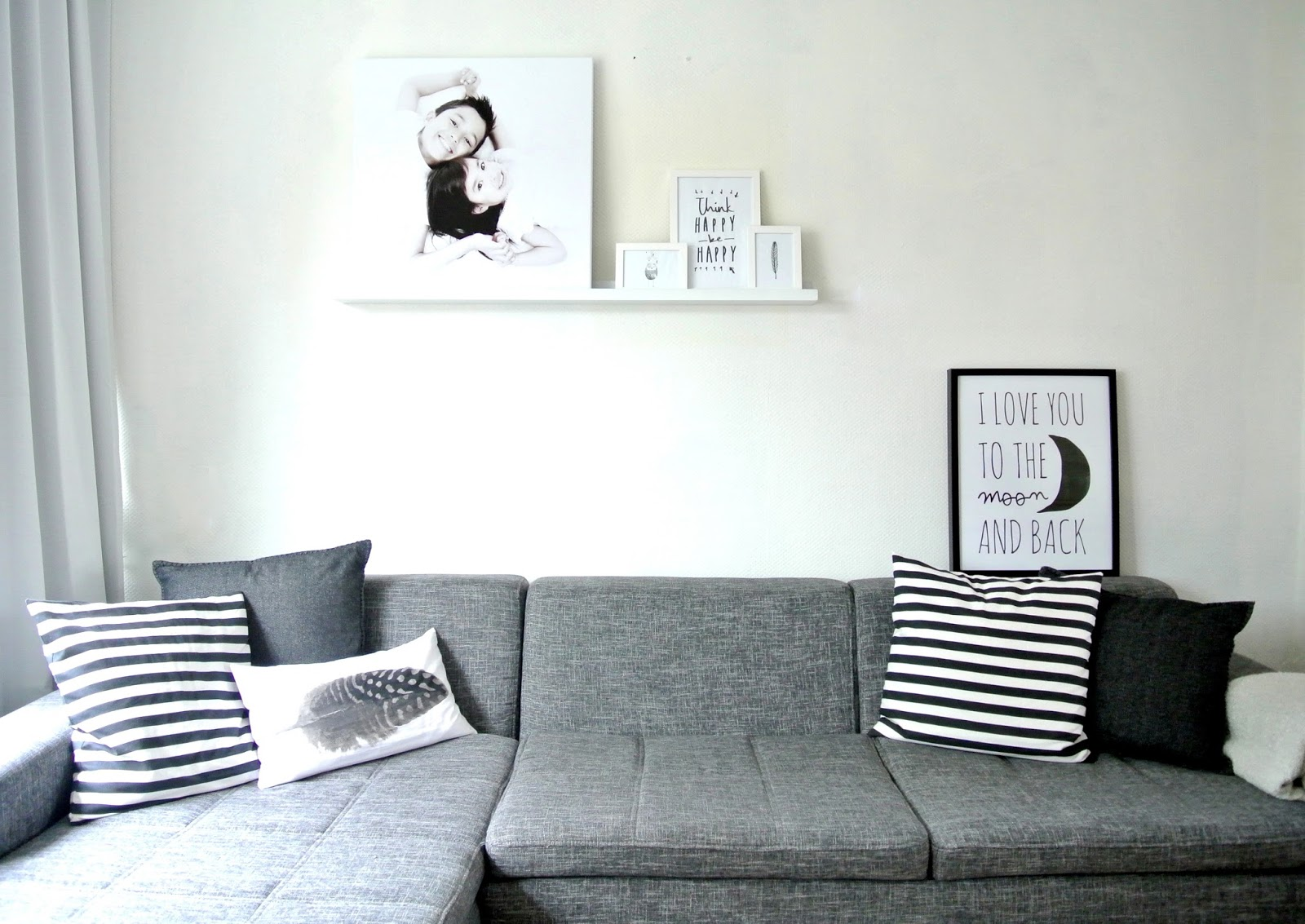 Woonkamer Grijs Wit Zwart : Interior Styling