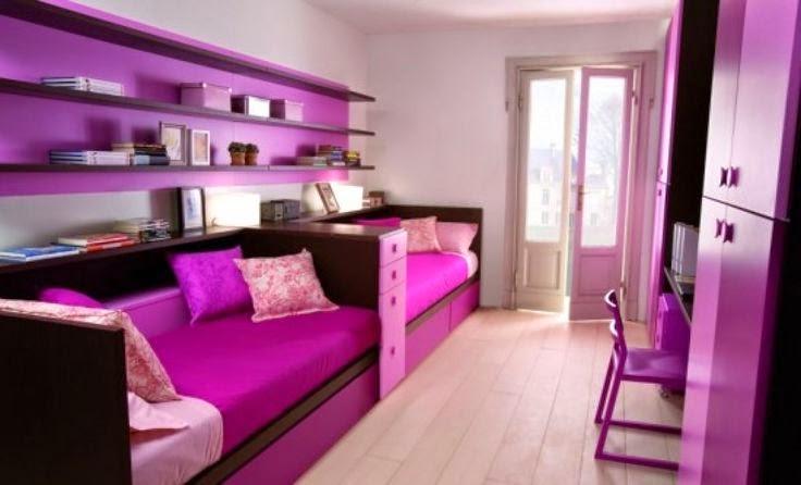photo chambre coucher - Chambre Mauve Clair