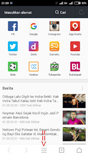 setting tampilan facebook lewat uc browser