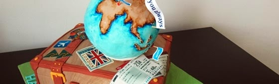 Header picture of Travel Globe and Luggage Bag cake