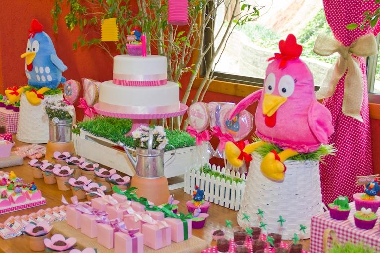 decoracao festa galinha pintadinha rosa:Galinha Pintadinha rooooosa para a Martina!