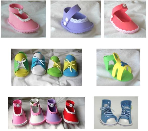 Moldes Para Zapatos De Baby Shower